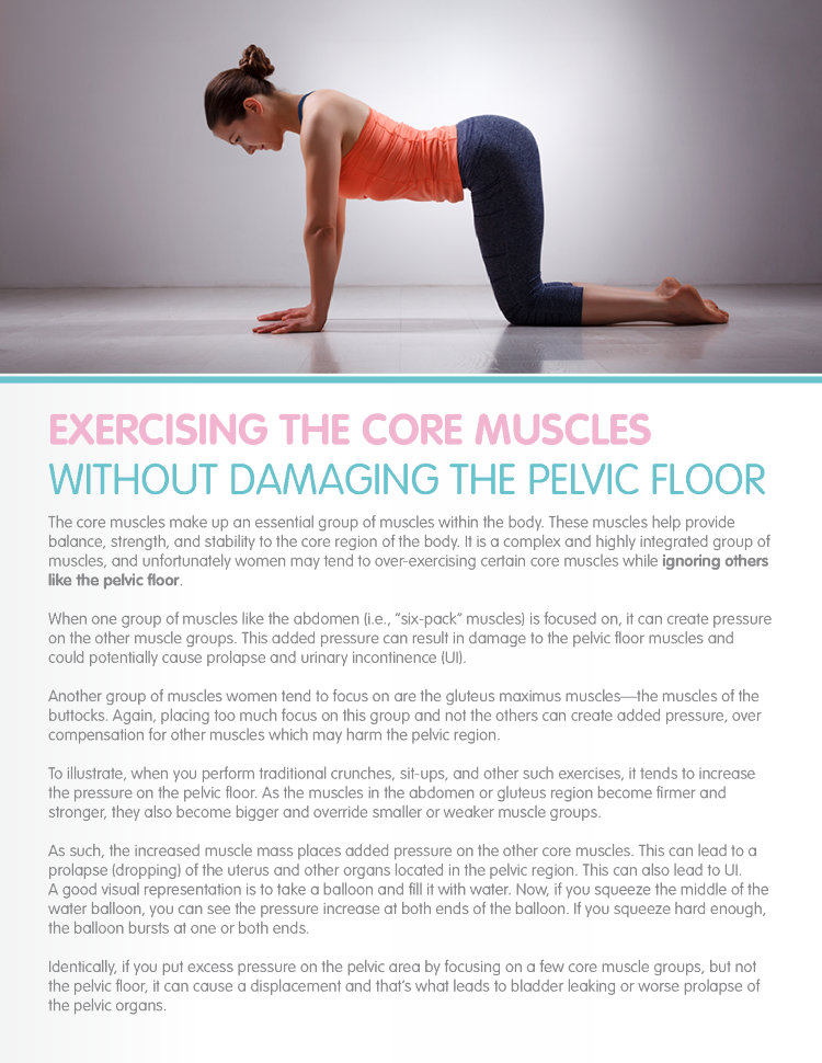 Exercising The Core Muscles Without Damaging The Pelvic Floor
