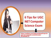 6 tips For UGC NET Computer Science