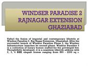 WINDSOR PARADISE in GHAZIABAD BY WINDSOR 09582095758