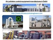 Air pollution control equipment manufactures in Delhi