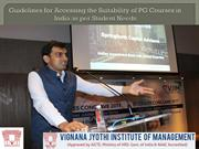 Guidelines for Accessing the Suitability of PG Courses in India as per