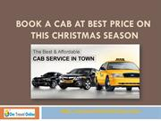 Book a Cab at Best Price on This Christmas Season