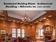 Crown Molding Miami FL