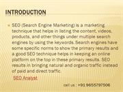 SEO Experts in Chennai,India.Search Engine Specialist.Website Analyst.