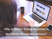 The Necessity of Quality Testing in Website Devlopment Process
