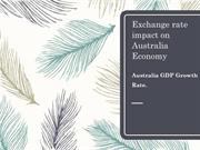 Exchange rate impact on the Australian economy|GDP Growth Rate