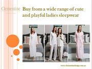 Buy from a wide range of cute and playful ladies sleepwear TODAY