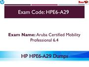 HPE6-A29 Exam Questions