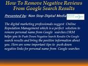 How To Remove Negative Reviews From Google Search Results