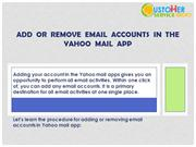 Add  or  remove  email  accounts  in  the Yahoo