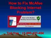 1-800-431-454 How to Fix McAfee Blocking Internet Problem