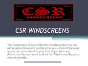 Windscreens Replacement Perth - CSR Windscreens