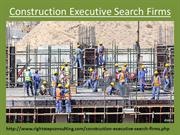 Construction Executive Search Firms
