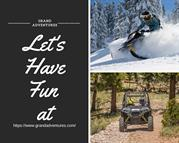 Off road Vehicle adventures  & Snowmobile - Grand Adventures