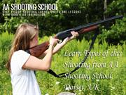 Type of Clay Shooting from AA ShootingSchool,Dorset, UK