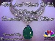 Do's and Dont's while wearing Emerald Panna Stone