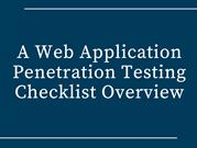 Top 20 Web Application Penetration Testing Checklist 2017