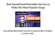 Best SoundCloud Promotion Service to Make the Most Popular Songs