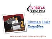 Human hair Supplies from Overseas Agency India