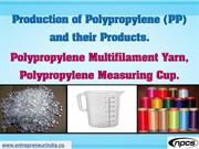 Production of Polypropylene (PP) and their Products.