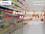 Retail Industry Mailing List | Retail Industry Email List
