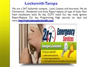 24 Hour Locksmith Services in Tampa FLorida