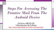 Steps For Accessing The Frontier Mail From The Device