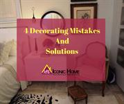 4 Interior Decor Mistakes that you shouldn't do
