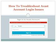 How To Troubleshoot Avast Account Login Issues
