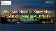 Cost Of Living in Australia (1)