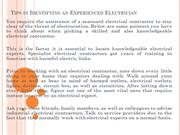 Tips in Identifying an Experienced Electrician