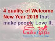 Order your favourite Welcome New year cake with flower in Pune