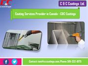 Coating Services Provider in Canada - C&C Coatings
