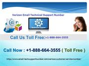 Verizon Email Tech Support Number +1-888-664-3555
