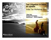 Tax Litigation in India - EY India