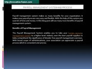 Know Benefits of Payroll Management System?