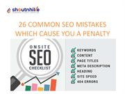 COMMON SEO MISTAKES WHICH CAUSE YOU A PENALTY