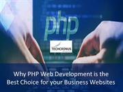 Why PHP Web Development is the Best Choice for your Business Websites