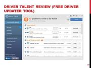 Driver Talent Review (Free Driver Updater Tool)