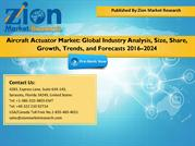 Aircraft Actuator Market Size & Share by 2022