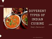 Different Types of Indian Cuisines