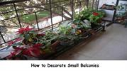 How to Decorate Small Balconies-home decor
