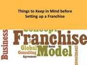 Things to Keep in Mind before Setting up a Franchise