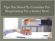 Tips You Need To Consider For Negotiating For a Lower Rent