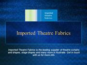 The Impact of Stage Fabrics on Set Building!