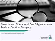 Case Study- Financial and Operational Due Diligence on an Analytics Se