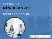 Singapore Branch Registration – Things to Consider