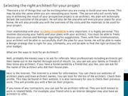 Selecting the right architect for your project