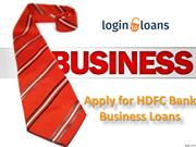 HDFC Bank Business Loan, Apply for HDFC Bank Business Loan in India  -
