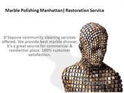 Marble Polishing Manhattan